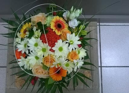 bouquet coloré pour naissance