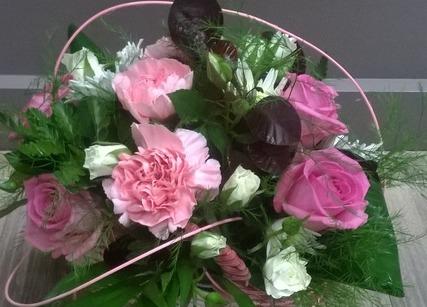 Bouquet rose pour naissance