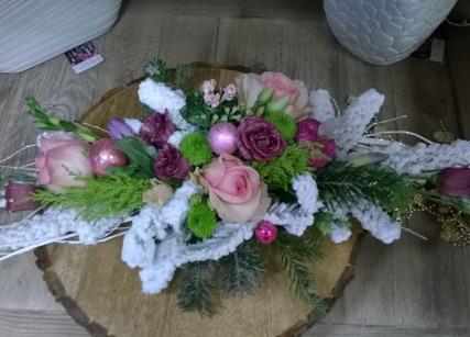 composition de fleurs pour Noel