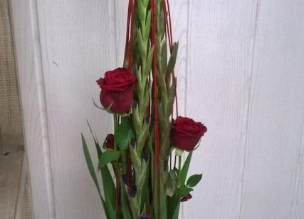 Composition de roses pour la St Valentin