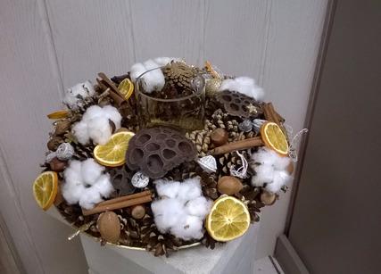 Decoration fleurs séchées de Noël