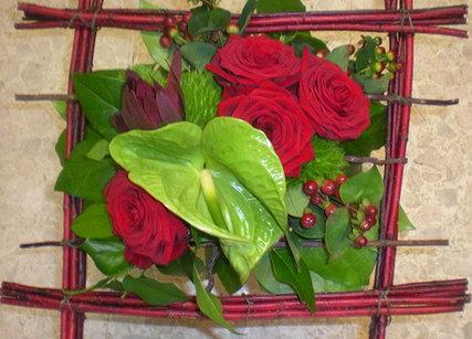 Décoration cadre de fleurs