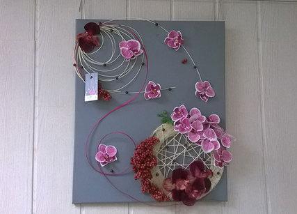 Décoration murale avec fleurs