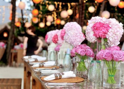 Bouquet de roses decoration mariage
