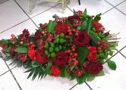 Gerbe de fleurs rouges