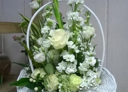 Composition de fleurs pour un mariage