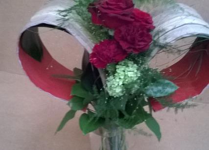 Roses rouges pour la saint-valentin à Pechbonnieu