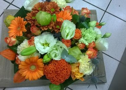 Composition florale ronde à l'occasion de la Fête des Mères