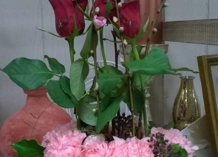Composition florale pour Saint Valentin