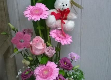Composition florale pour naissance