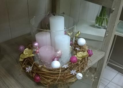 Décoration fleuriste de Noël