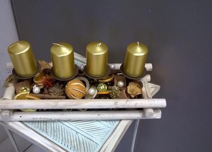 Composition bougies de Noël